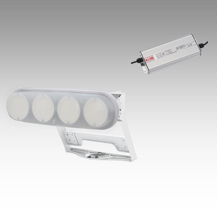 大型LED 1000 重耐塩投光器型【横型】(乳白)