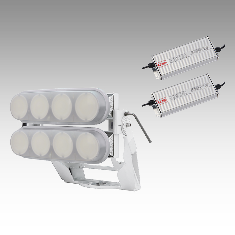 大型LED 2000 重耐塩投光器型【横型】(乳白)