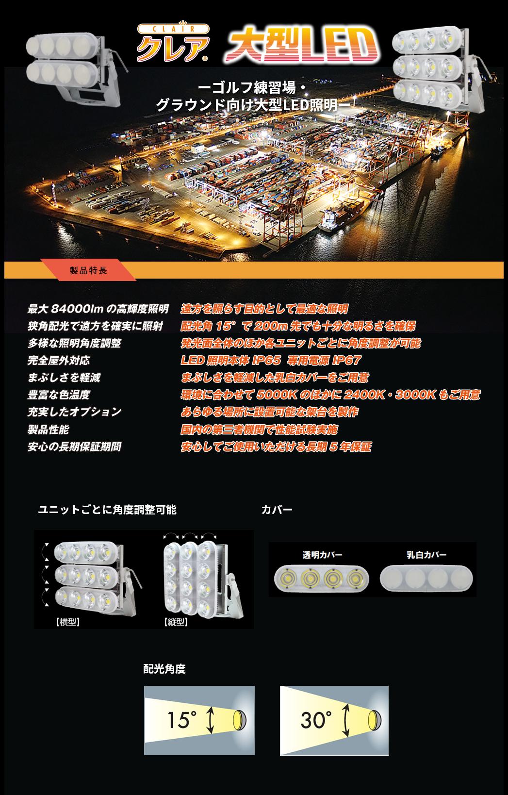 クレア 大型LEDの特長